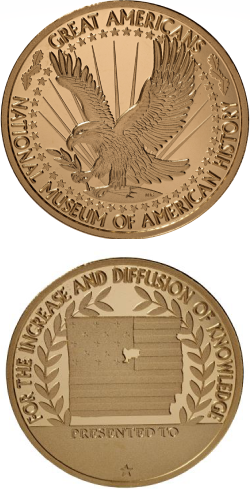Smithsonian Great Americans National Museum of American History award emblem